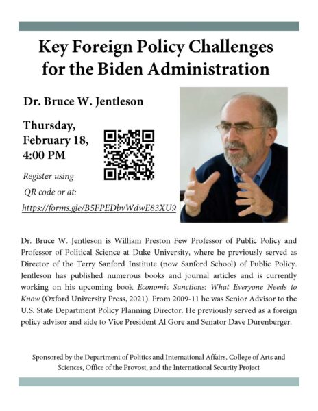 Key Foreign Policy Changes for the  Biden Administration flyer